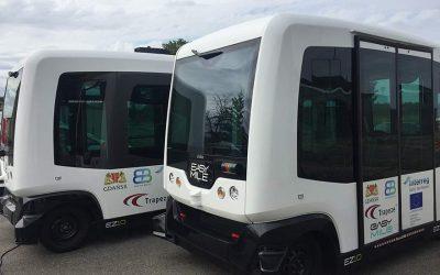 Dzień Dobry TVN odwiedza autonomiczny pojazd EasyMile i Trapeze Poland